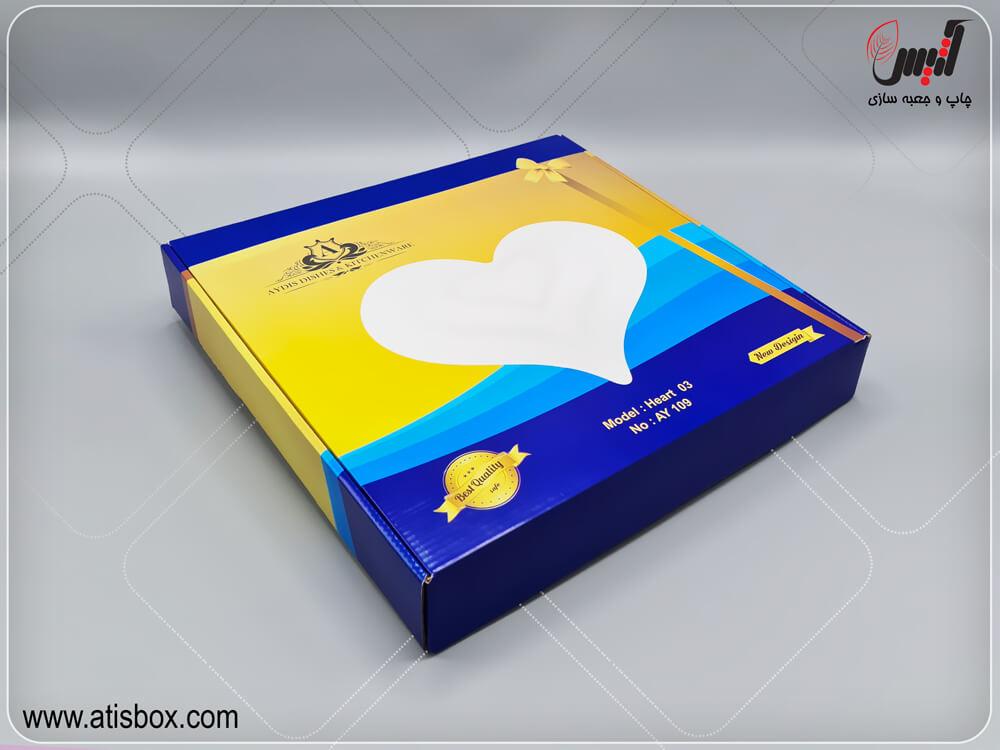جعبه لمینتی ظروف تزئینی آیدیس